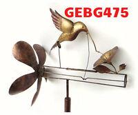 Classic Hummingbird Whirligig. Wind Spinner Hummingbird Bobs Turns In Wind Ge475