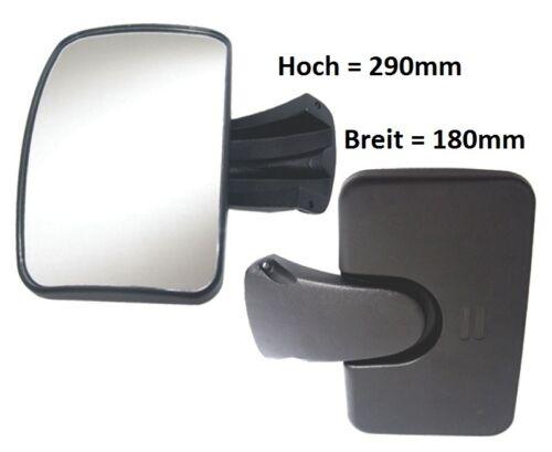 Rampenspiegel Panorama Spiegel Universal Universell verwendbar 290x180mm R-300°