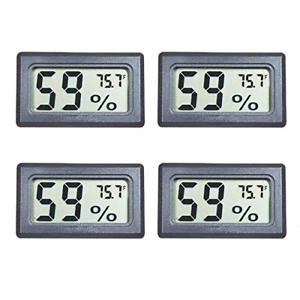 Veanic 4-Pack Mini Digital Electronic Temperature Humidity Meters Gauge Indoor ?