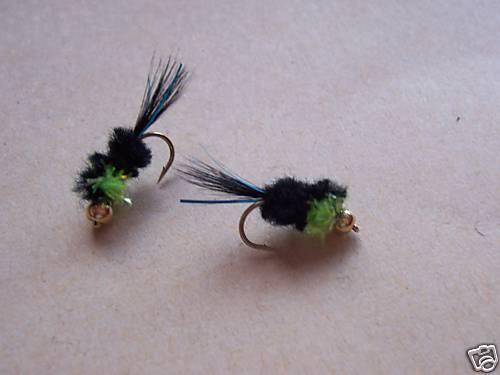 Lime Green Fritz Thorax size 10 Salmoflies Fishing Flies 3 x Goldhead Montana
