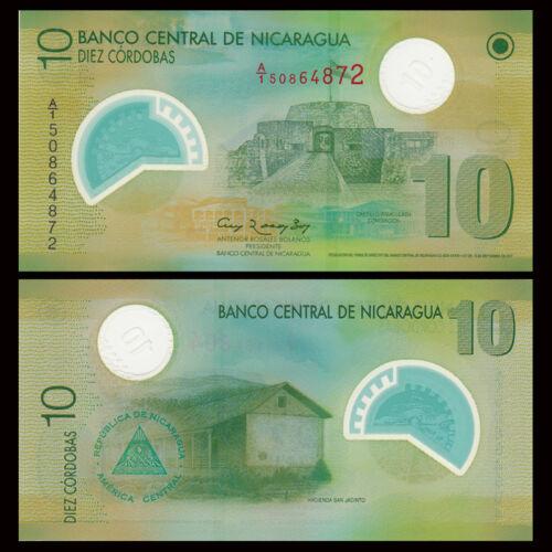 2007 Nicaragua 10 Cordobas P-201 Polymer UNC