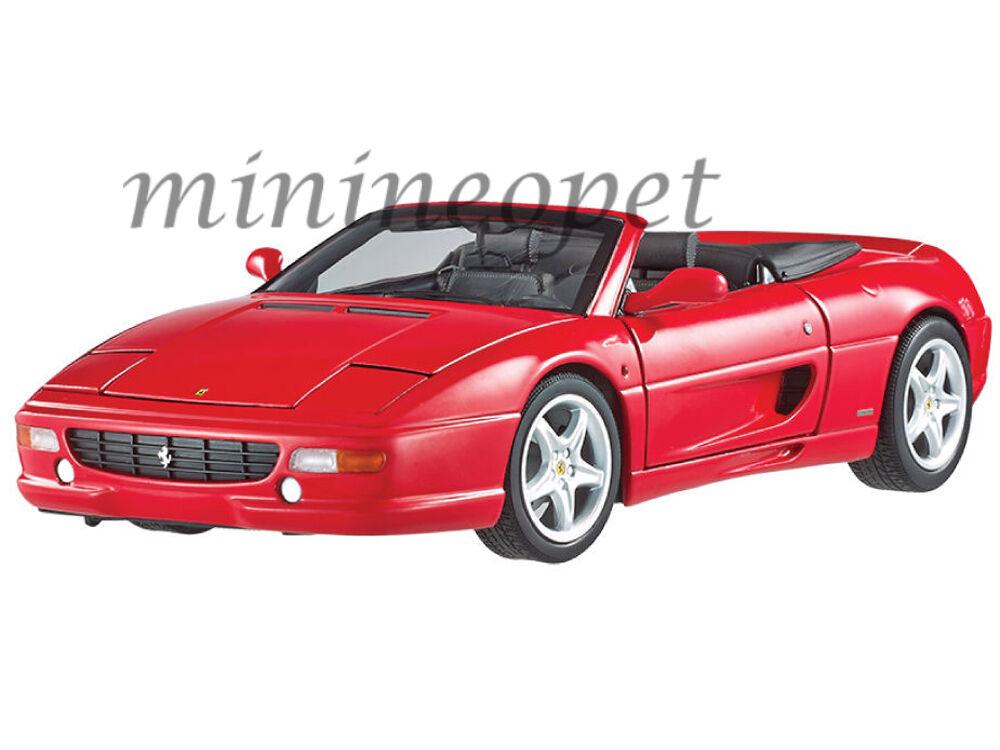 Hot Wheels Elite bly34 Ferrari F355 Spider Converdeible 1 18 Diecast Modelo Rojo