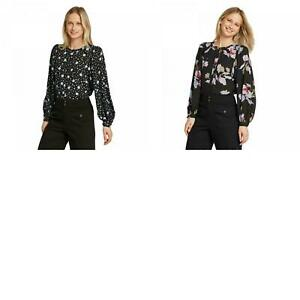 NWT-Who-What-Wear-Women-039-s-Floral-Print-Balloon-Long-Sleeve-Blouse-WWT-828