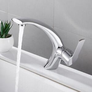 Détails sur Robinet salle de bain lavabo mitigeur mono vestiaire simple  levier chrome