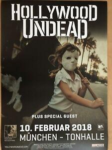 HOLLYWOOD UNDEAD 2018 MÜNCHEN -- Concert Poster - Konzert Plakat A1 NEU - Dreieich, Deutschland - HOLLYWOOD UNDEAD 2018 MÜNCHEN -- Concert Poster - Konzert Plakat A1 NEU - Dreieich, Deutschland