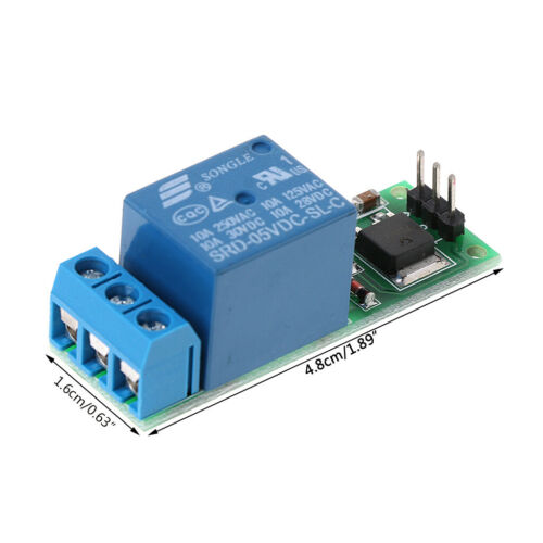 6-24V Flip-Flop Latch Relay Bistable Self-locking Low Pulse Trigger Module 1PC