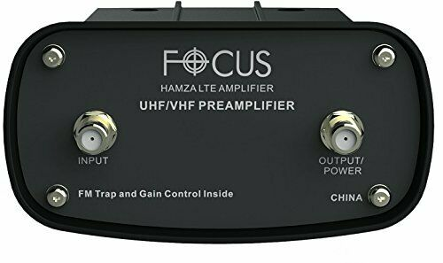 Focus Antennas Hamza Pre-Amplifier Signal Booster with LTE Filter UHF/VHF/FM
