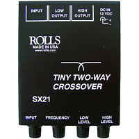 Rolls SX21 Tiny Two-Way Crossover with Input and Output Controls on Sale