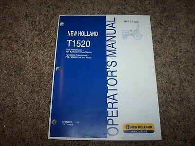 nh  holland  tractor owner owners operator user