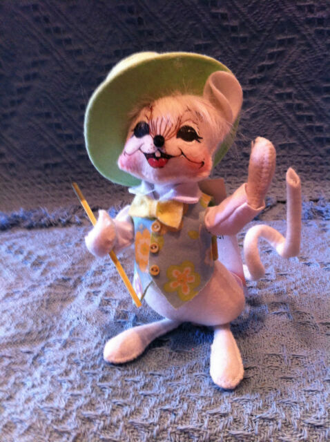 "#2 NOS 2006 ANNALEE 6"" EASTER SPRING BOY MOUSE #085006 NWT"