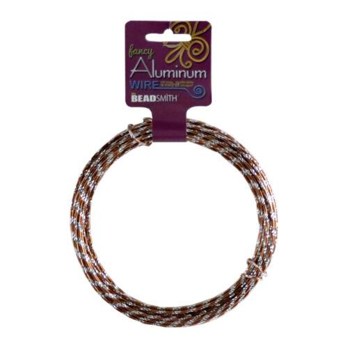 Aluminum Wire Round DIAMOND CUT by Bead Smith 12 ga 12m