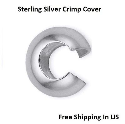 Sterling Silver Crimp Bead 3 x 3 MM pack Of 20 Made In USA