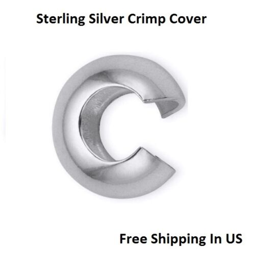 Made In USA Sterling Silver Crimp Cover 5 MM Pack Of 20