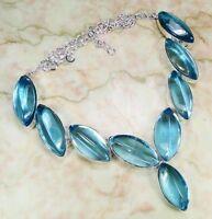 Collier En Argent Et Quartz Bleu