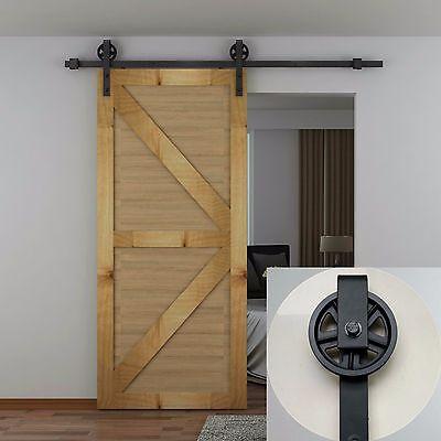 4-16FT Interior Rolling Sliding Barn Wood Door Hardware ...