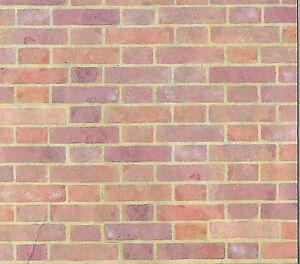 1-12-Scale-A3-Red-Brick-Wallpaper-DIY-29-7cm-x-43cm-Tumdee-Dolls-House-263