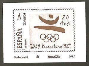Grabado Nº 4 Barnafil 2012 20 Anos Juegos Olimpicos Barcelona 92