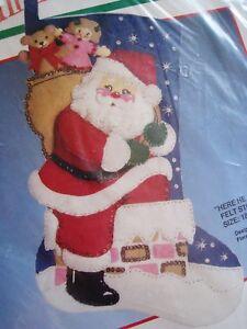BUCILLA CHRISTMAS STOCKING FELT Applique Holiday KIT,HERE ...
