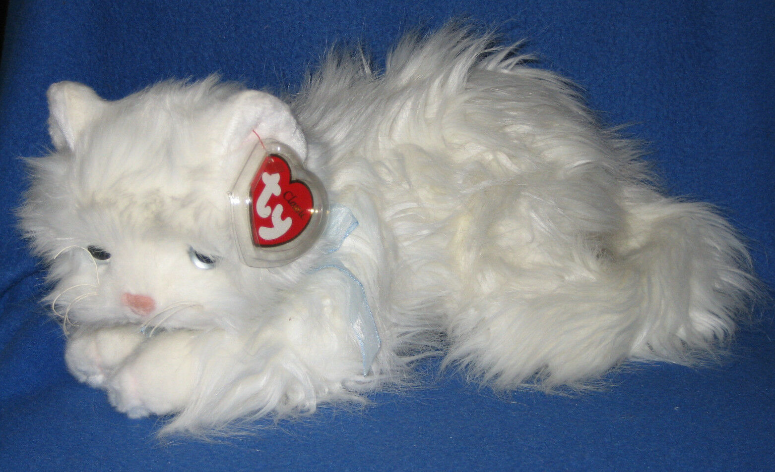 TY CLASSIC PLUSH -SUGAR the WHITE CAT - MINT with MINT TAGS - NEW