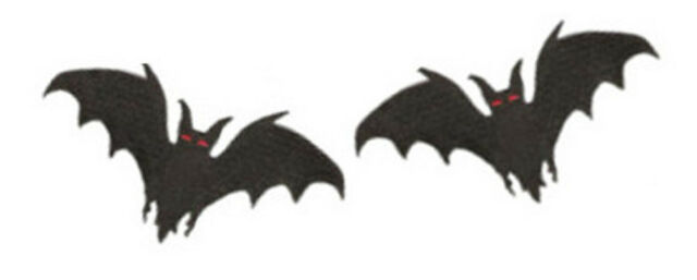 """2 X BAT EMBROIDERED PATCHES 7CM X 4CM (3"""" X 1  1/2"""")"""