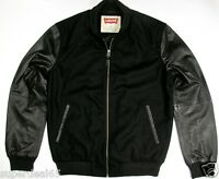 Levi's Leather & Wool Blend Varsity Jacket Black Levi Strauss & Co