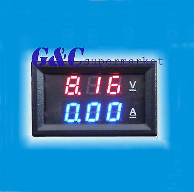 New DC 0-100V 20A Dual LED Digital Voltmeter Ammeter Voltage AMP Power M25