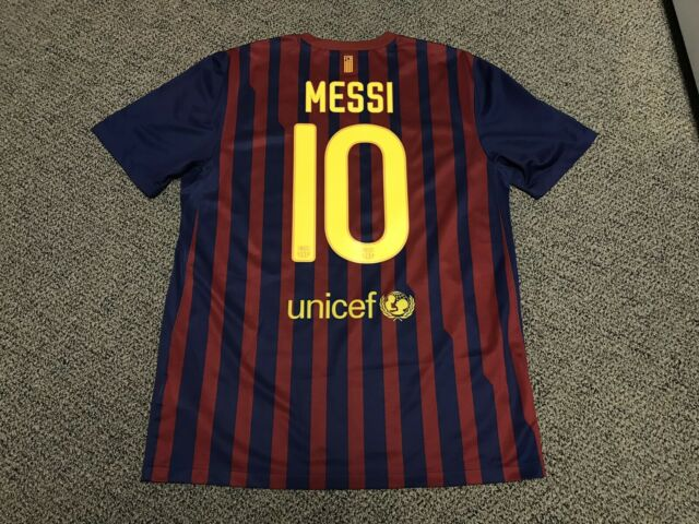 best service 54f4b 82fcd 2011 2012 FC Barcelona Lionel Messi Jersey Shirt Kit Nike Home Large L 10