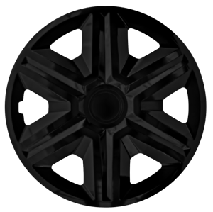 15 Inch Wheel Trim Set Gloss Black Set of 4 Univers Hub Caps Covers AKTNBlack