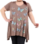 Plus-Size-Ladies-Short-Sleeve-Butterfly-Print-Dip-Hanky-Hem-Casual-T-Shirt-Top thumbnail 5