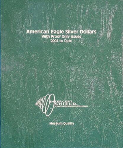 American Eagle Silver Dollars 2004-Date w//PR Deluxe Intercept Shield Album
