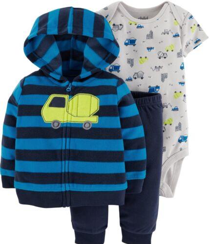 Jacke+Hose+Body 50//56 USA~Child of mine by Carter/'s  Babyanzug Auto Fleecejacke