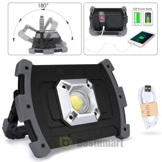 2X LED Camping Lantern Outdoor Tent Light 20W Rechargeable Portable Work Lights