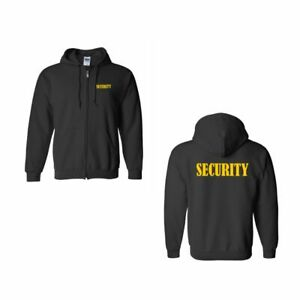 Security-Full-Zip-Hoodie-Sweatshirts-Black-Color