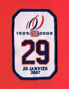 on sale 25153 ffce9 Details about MONTREAL CANADIENS KEN DRYDEN #29 JERSEY RETIREMENT NHL PATCH