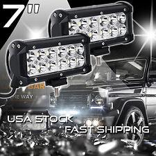 2X 7INCH 36W CREE LED WORK LIGHT BAR SPOT OFFROAD LAMP 4WD ATV DRIVING SUV FLOOD