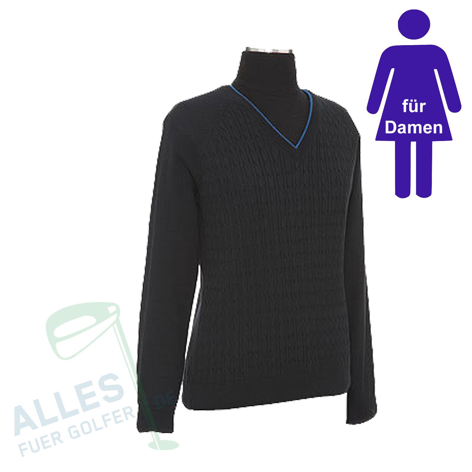 Callaway Pullover Maglia per donna 100% COTONE COTONE COTONE NERO 36 NUOVO conf. orig. rechng c7219d