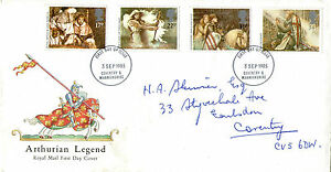 3-SEPTEMBER-1985-ARTHURIAN-LEGEND-ROYAL-MAIL-FIRST-DAY-COVER-COVENTRY-FDI