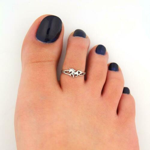 Sterling Silver 925 Toe Ring Adjustable Horse Toe Ring Animal Toe Ring T93
