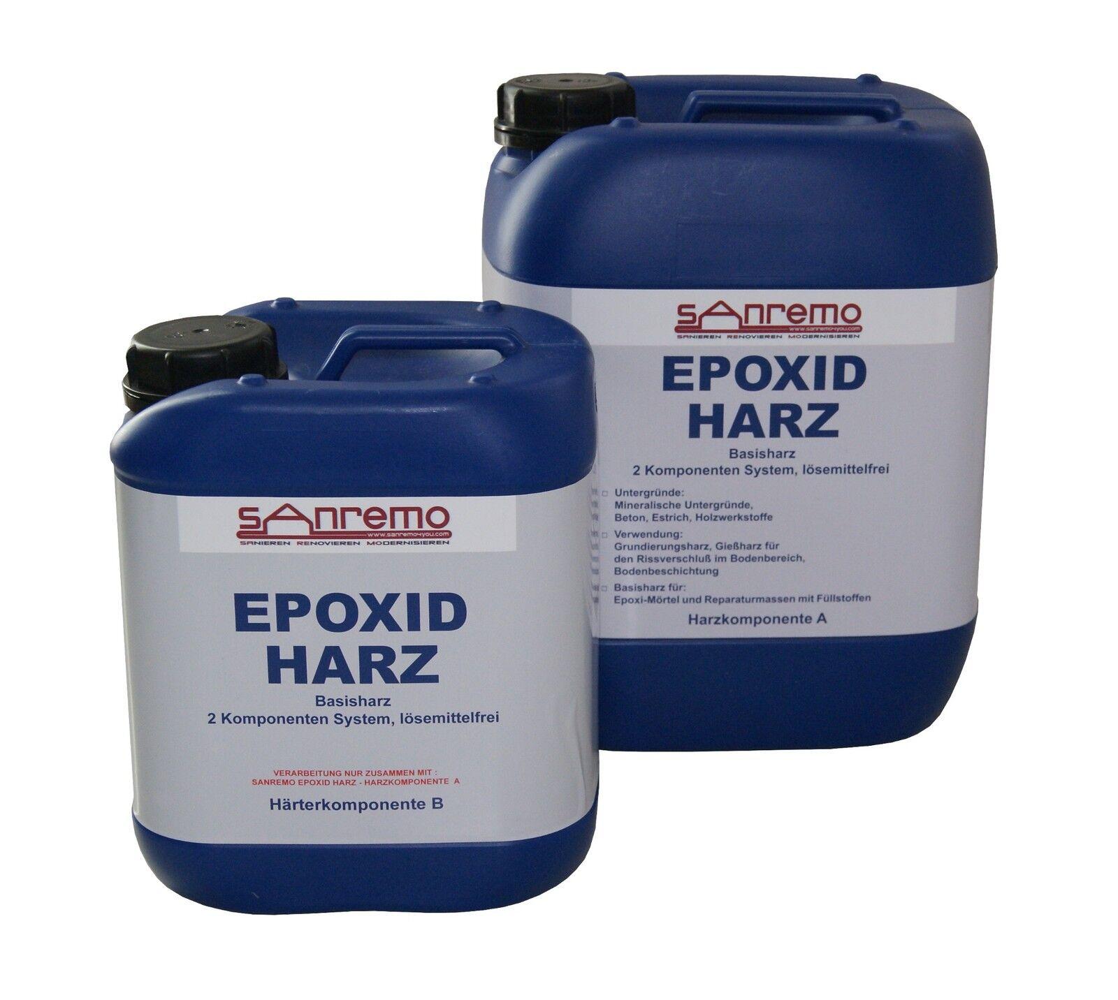 Sanremo EPOXID HARZ Basisharz, 2 Komponenten System, lösemittelfrei 16 Ltr.