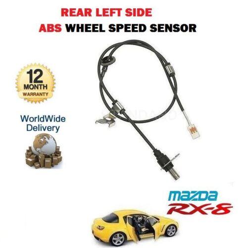 Pour Mazda RX8 1.3 2002-12//2008 NOUVEAU 1 X Arrière Côté Gauche ABS Roue Capteur de vitesse