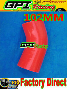Silicone-Joiner-45-Degree-Bend-Elbow-Radiator-Hose-102mm-4-034-4-inch-Silicon-Pipe