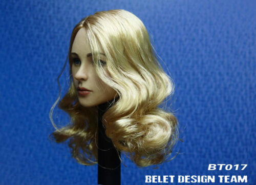 "1//6 Female Head Sculpt Blonde Hair For 12/"" PHICEN Hot Toys Figure SHIP FROM USA"