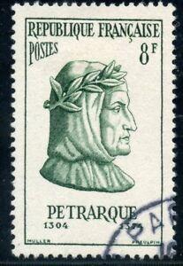Expressif Stamp / Timbre France Oblitere N° 1082 / Celebrite / Petraque Poete Italien Douceur AgréAble