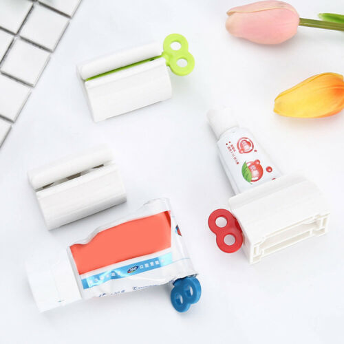 Plastic Toothpaste Tube Squeezer Easy Dispenser Rolling Holder Bathroom Supplies