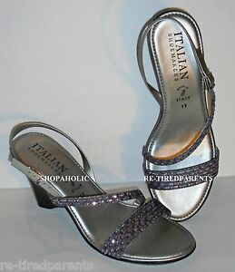 bfed09a2c Image is loading ITALIAN-SHOEMAKERS-SANDAL-SILVER-SPARKLY-PALE-LAVENDER-SIZE -