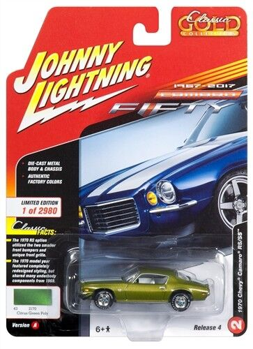 Details about  /1//64 JOHNNY LGHTNING CLASSIC GOLD 4A2 1970 Chevrolet Camaro in Citrus Green Meta