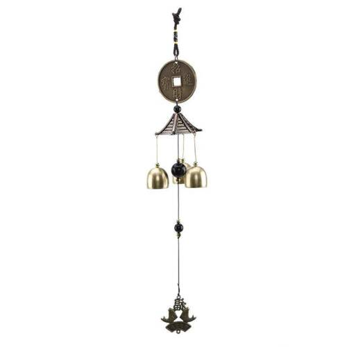 Chinese Style Lucky Wind Chime Hanging Bell Garden Yard Outdoor Decor W