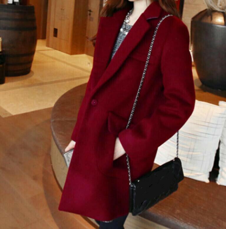 Fashion Lapel Lapel Lapel Womens Cashmere Blend Coats Outwear Full Sleeve Wool Blend Casual 9a3d0c