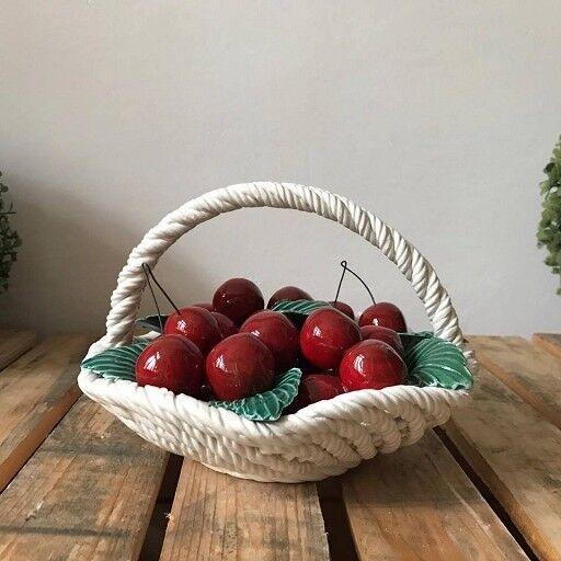 Bassano cerámica cesta con frutas 3d 18cm decoración-procedentes de Italia  nuevo