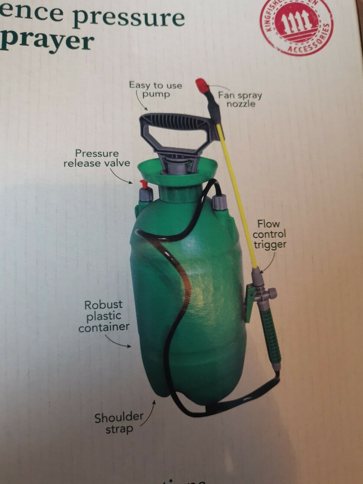 KINGFISHER garden Fence Pressure Sprayer, 5ltr, NEW, Boxed Plant Food Watering